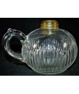 Antique EAPG Icicle Oil / Kerosene Flat Hand Finger Lamp 1876 Embossed o... - $38.61