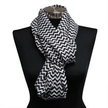 5pk White & Black Chevron  Infinity Wrap Scarf Light Weight Scarves Hija... - $7.69