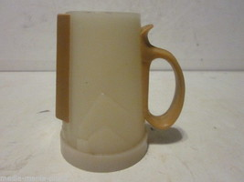 VINTAGE 1960'S WHIRLEY INDS SMALL BEIGE & BROWN MILK PITCHER FLORAL DESIGN - $9.99