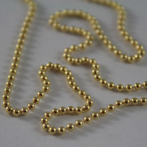 18K YELLOW GOLD CHAIN WITH BALLS BALL, SPHERES, NECKLACE, MADE IN ITALY image 3