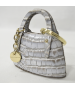 NWT Brahmin Small Leather Handbag Key Fob/Bag Charm in Granite Melbourne - $65.00