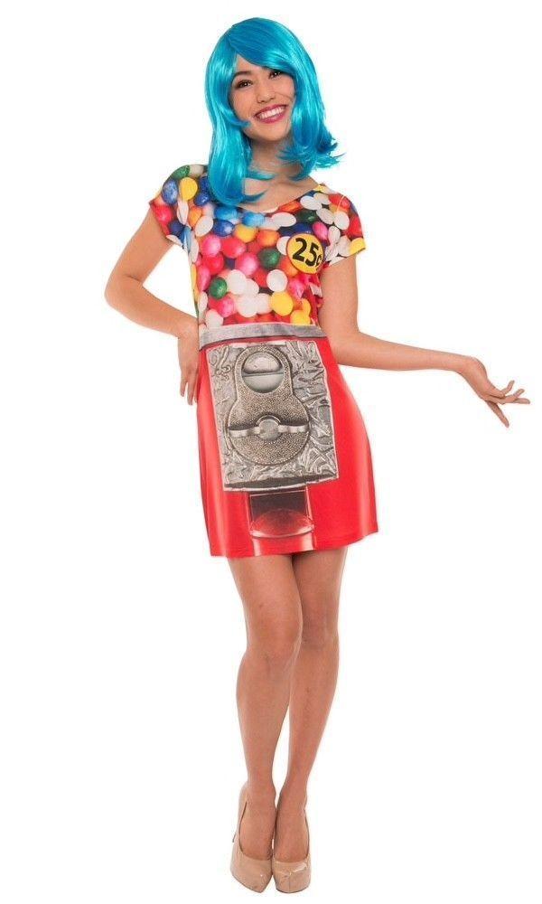 Faux Real Gumball Fororealistica Sublimado Vestido Disfraz Halloween F138943