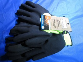 BLACKCANYON OUTFITTER latex coated work gloves sz LG set of 3 - $27.72