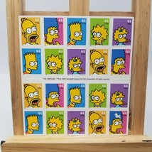 The Simpsons 5 Designs USPS Sheet of 20 Stamps 2009 44 Cent Great Condition - $22.65