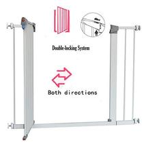 LEMKA Walk Thru Baby Gate, 31-41 inch Auto-Close Safety Pet Gate Metal Expandabl image 4