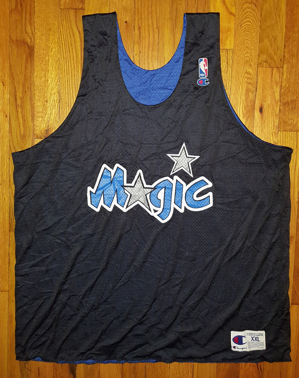 Authentic Champion Orlando Magics Practice Shooting Reversible Jersey XXL 2xl 2x