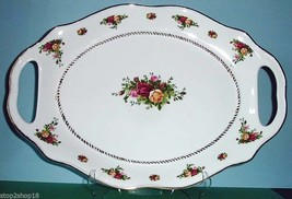 """Royal Albert Old Country Roses 18"""" Large Platter Tray Oval Side Handles New - $175.90"""