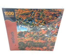 Springbok Autumn Harbor Jigsaw Puzzle 1500 Pieces Fall Leaves Boats NEW ... - $29.51