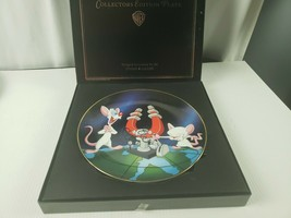 Warner Bros Animaniacs Pinky & the Brain Limited Ed Collectors Plate  - $27.75
