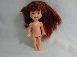 Kelly Barbie Little Sister Auburn Hair Green Eyes & Freckles Nude Doll - $4.53