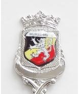 Collector Souvenir Spoon Belgium Belgique Belgie Coat of Arms Enamel Emblem - $14.99