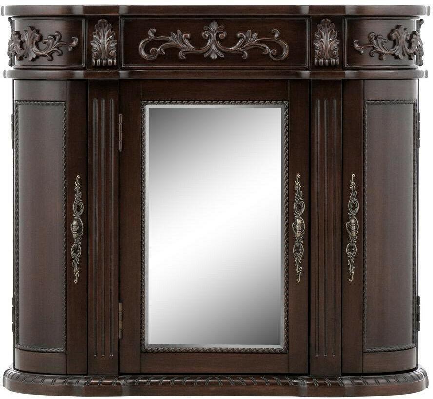 Bathroom Storage Wall Cabinet 31-1/2 in. W 3-Door Mirrored ...