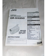 JVC VHS Compact Camcorder GR-SX850 Instructions Manual Only - $11.22