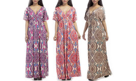 Women's Summer Floral Printing Evening Cocktail Gown Maxi Dress - $39.99