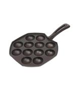 12 Hole Cast Iron Uncoated Nonstick Octopus Ball Takoyaki Maker Meatball... - $42.99
