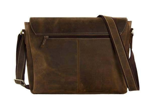 Sale, Handmade Vintage Leather Bag, Leather Messenger Bag, Men's Leather Shoulde image 4