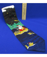 Mens Neck Tie Hallmark Specialties Novelty Santa Claus Fishing Christmas... - $10.88