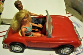 Barbie Doll - Ken & Barbie in Red Barbie Car - $30.00