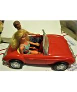 Barbie Doll - Ken & Barbie in Red Barbie Car - $30.00