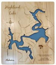 Personalized - Highland Lake, Alabama - Wood Laser Cut Ma - $124.99+