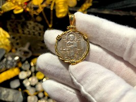 "ITALY ""JESUS CHRIST"" 122-1249AD TWISTED BEZEL 18KT GOLD JEWELRY NECKLACE... - $1,250.00"