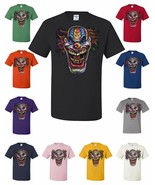Evil Mad Clown Face T-Shirt Scary Horror Crazy Insane Joker Tee Shirt Ha... - $14.76+