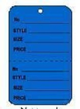 Dark Blue 2 part Merchandise Garment Sale Price Tags Unstrung 1-1/4 x 1-7/8 - $2.99+