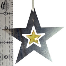 Aluminum and Crystal Star Ornament image 2