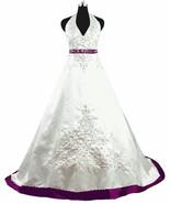 2018 New Halter Satin White Wedding Dress Bridal Gown Custom Made Size 2-20 - £125.43 GBP