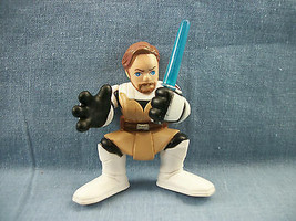 "Hasbro 2004 Star Wars Galactic Heroes Mini Action Figure 2 1/2"" Obi Wan ... - $1.73"