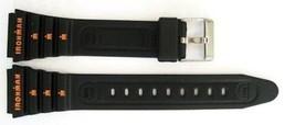 TIMEX 19MM BLACK IRONMAN TRIATHLON VINTAGE RUBBER SPORT WATCH BAND STRAP - $8.90