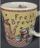 Fresh Brewed Coffee Mug Cup 12oz Sherrie Buck Baldwin Lang and Wise - $17.95