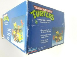 Teenage Mutant Ninja Turtles 1989 Party Wagon Mutant Attack Van In Damaged Box image 2