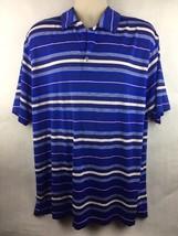 Men's Nike Golf Dri Fit Red White & Blue Polo Shirt Size XL *Flawed - $10.88