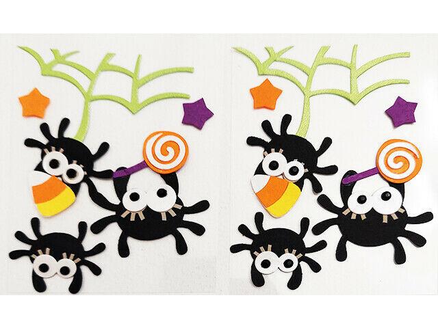 Halloween-Themed Sticker Set, Candy Corn, Spiders, Spider Web!
