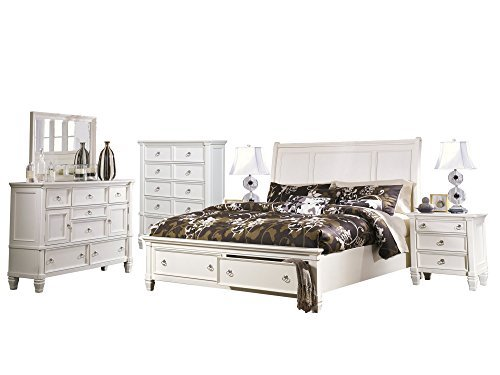 Ashley Prentice 6pc Bedroom Set Cal King Sleigh Bed