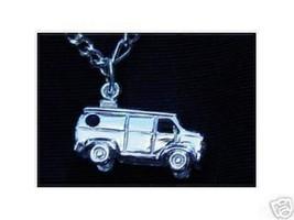 Sterling Silver Mini Van car Pendant Charm Jewelry - $16.30