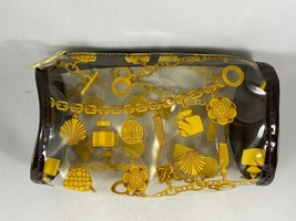 New Estee Lauder Clear Bangle Illustrated Print Toiletry Case Bag Makeup... - $9.50