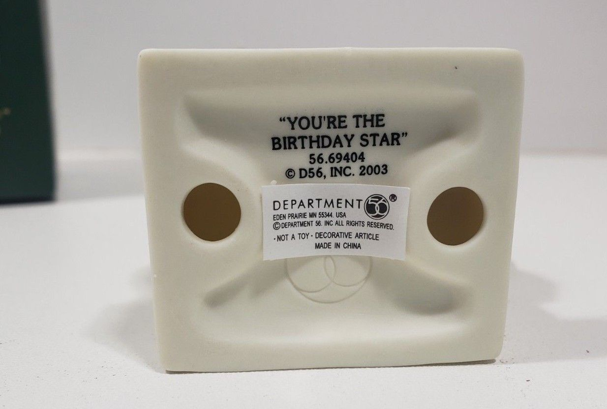 "Dept. 56 Snowbabies...""Your The Birthday Star"" April-diamond"