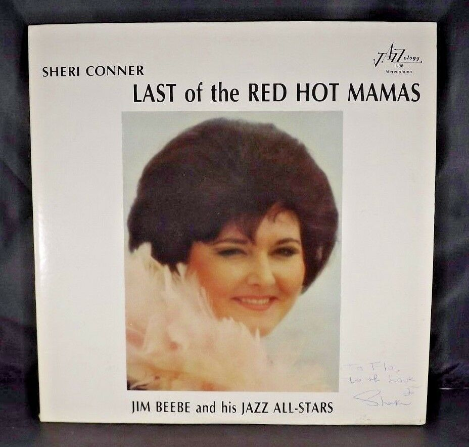 Primary image for SHERI CONNER JIM BEEBE Last Of The Red Hot Mamas autographed 1983 JAZZOLOGY + LP