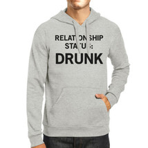 Relationship Status Unisex Grey Fleece Hoodie Humorous Graphic - $25.99+