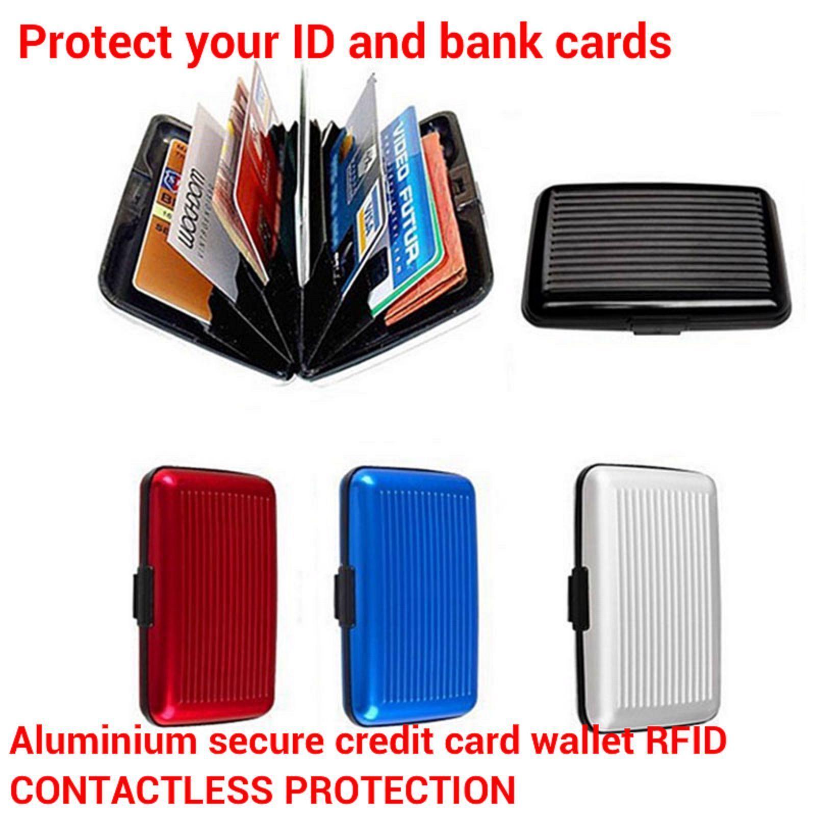 detailing b62d8 9c840 Aluminium Metal RFID Wallet Case Contactless and 50 similar items