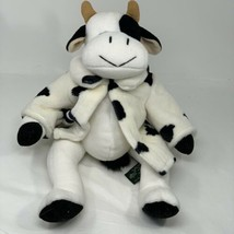 "Russ Berrie Plush Mooella Black White Cow Spotted Coat 14"" Soft Stuffed ... - $29.69"