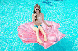 """Seashell Inflatable Pool Rafts Ride Ons Floats Swim Tube for Adults 55.1"""" (Pink) image 5"""