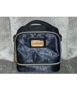 Bebe Insulated Lunch Bag Black Signature Logo Tote with Handle 2 Compart... - $19.99