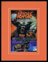 1995 Rage Card Game White Wolf 11x14 Framed ORIGINAL Vintage Advertisement - $32.36