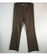Cache Size 4 Career Dress Pants Brown Stretch Textured - $27.11