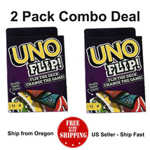 UNO Flip Card Game ( 2 PACK ) - US Seller - Ship Fast - Free Shipping - $8.92