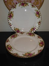 "Royal Albert Old Country Rose 10.5"" Dinner Plates Set Of 3 - $49.00"