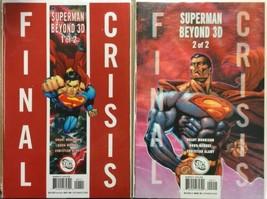 Final Crisis Superman Beyond 3D #1 & 2 DC Comics Set 2008 Grant Morrison Mahnke - $19.60